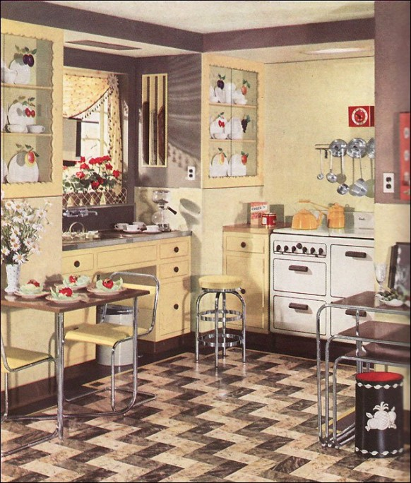 Vintage Kitchen Inspirations 1930s on 70s style ranch house plans