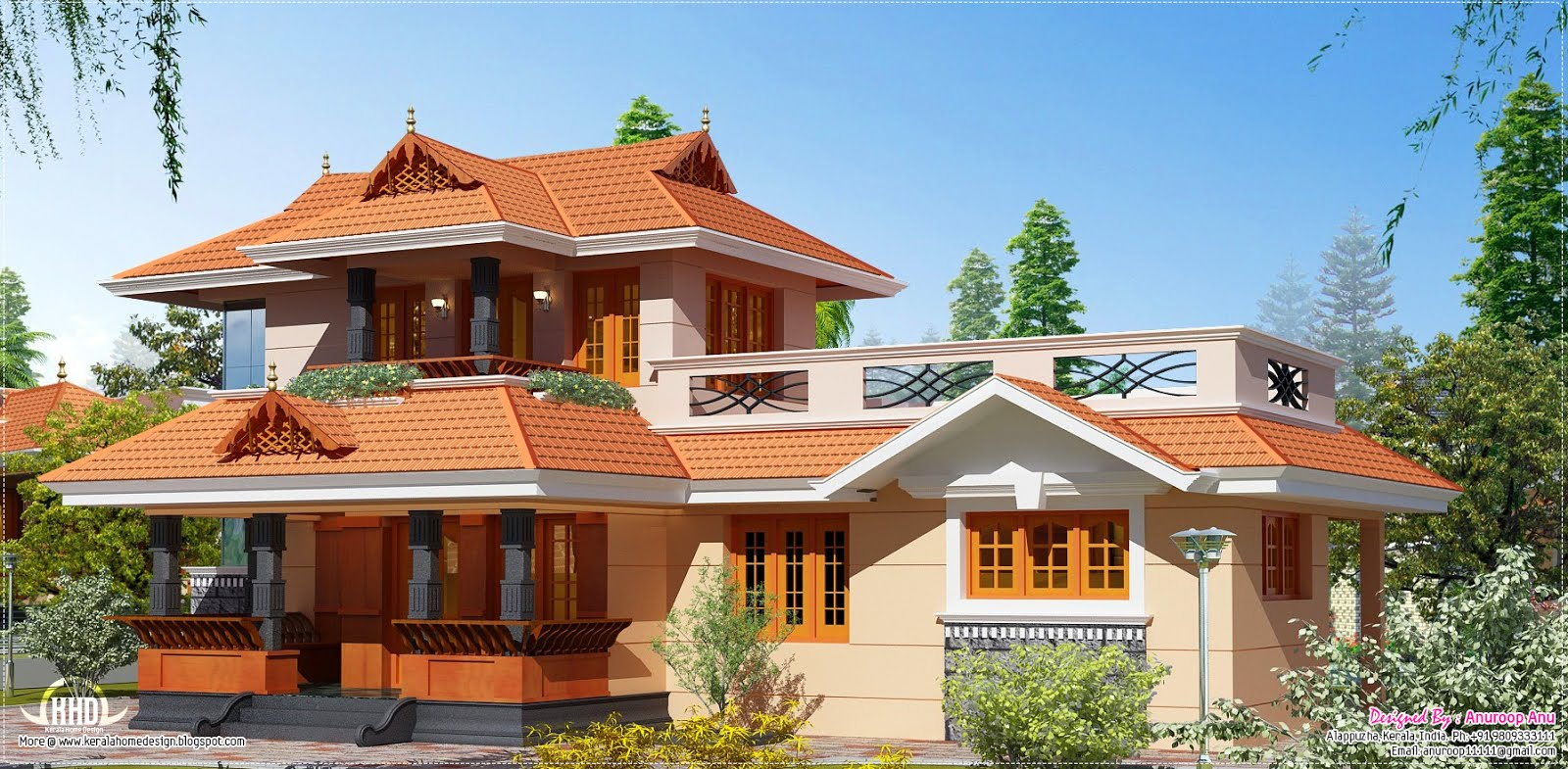 New home design 1950 square feet kerala model home for New house plans kerala model
