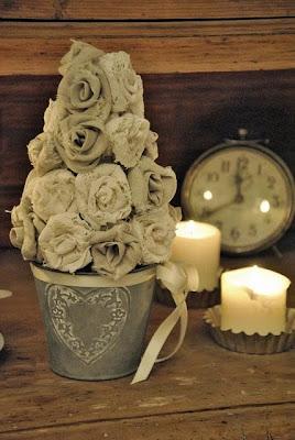 flores em tecido