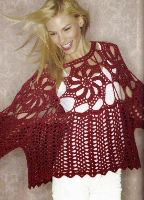 Túnica crochet con tejido amplio
