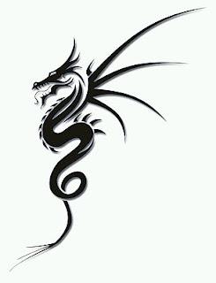 Tatoos y Tatuajes de Dragones en Blanco y Negro, parte 1
