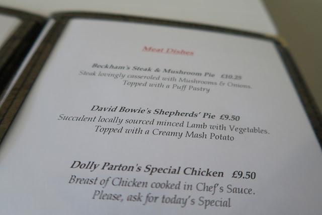 Hotel Celebrity Bournemouth Food Menu