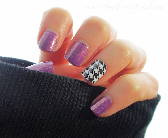 Zoya Dannii Jamberry Nail Shield Houndstooth