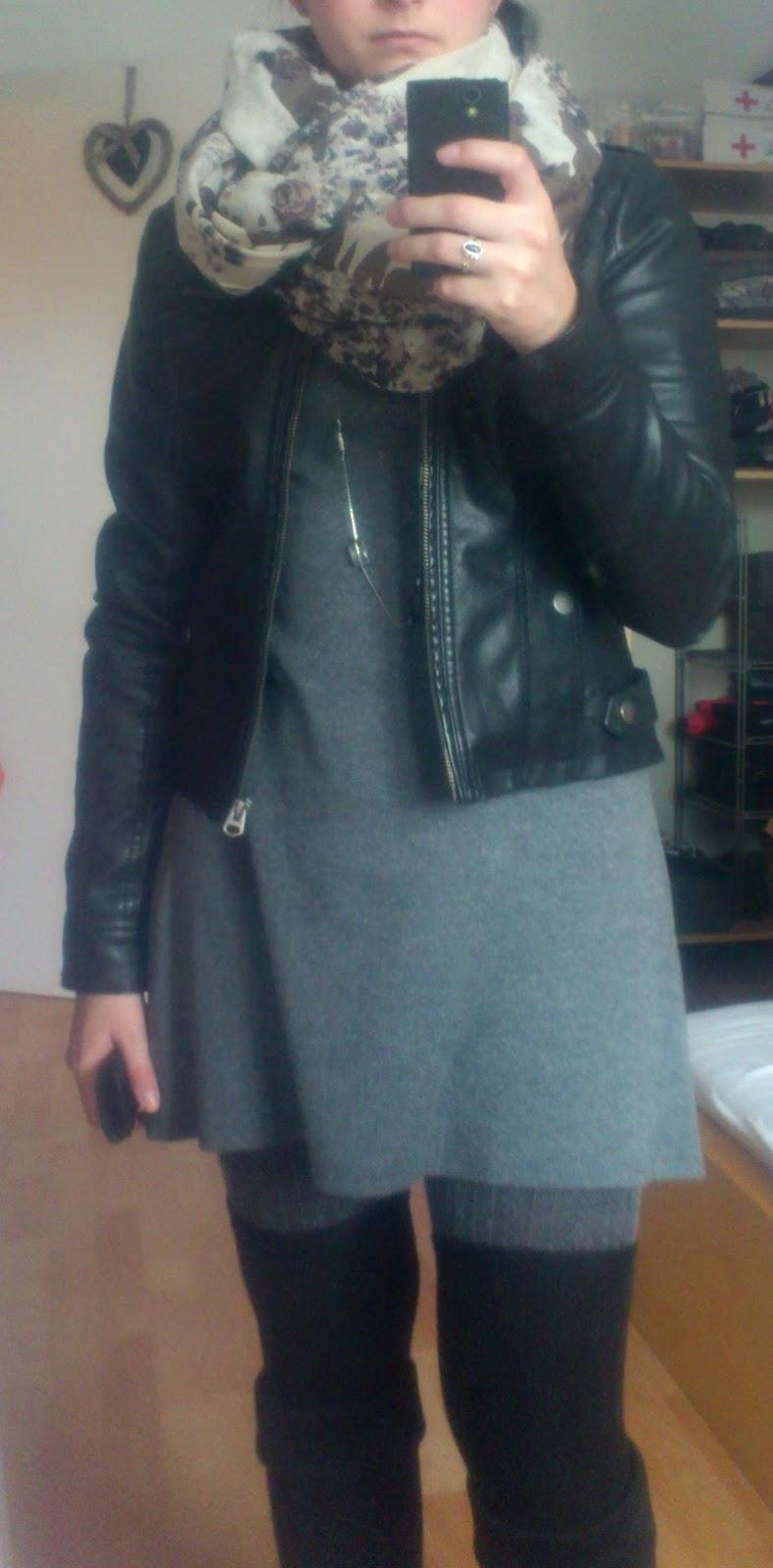 Outfit mit Lederjacke