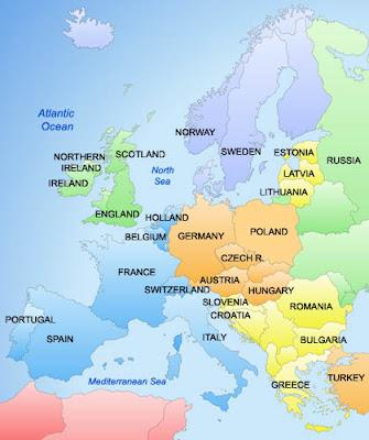 Avrupa siyasi bölgesi haritası