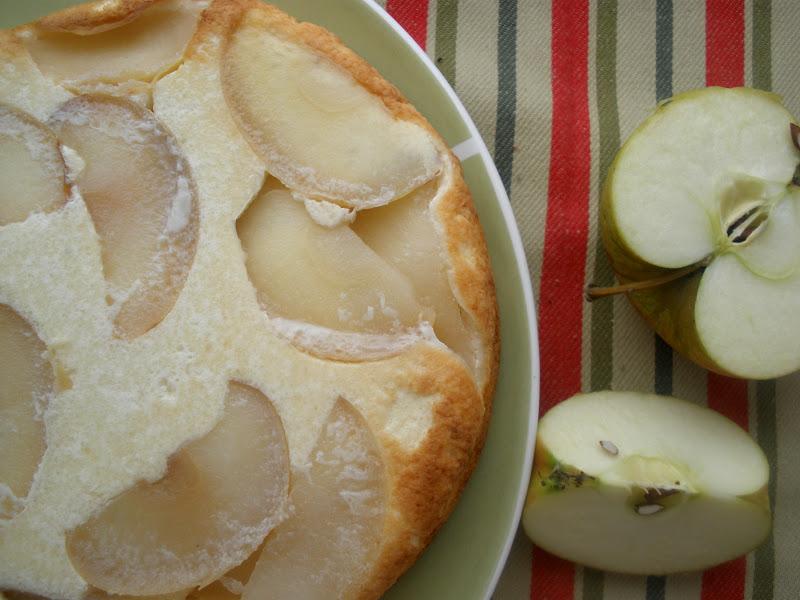 Рецепт творожник с яблоками