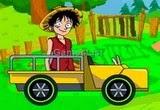 لعبة مغامرات لوفي ون بيس على السيارة الحربية Luffy Truck Wars