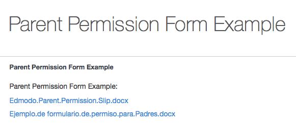 https://support.edmodo.com/home#entries/22021025-parent-permission-form-example
