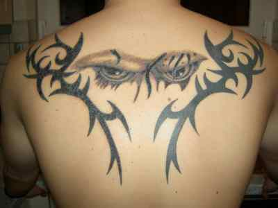 Tattoos For Men on Upper Back