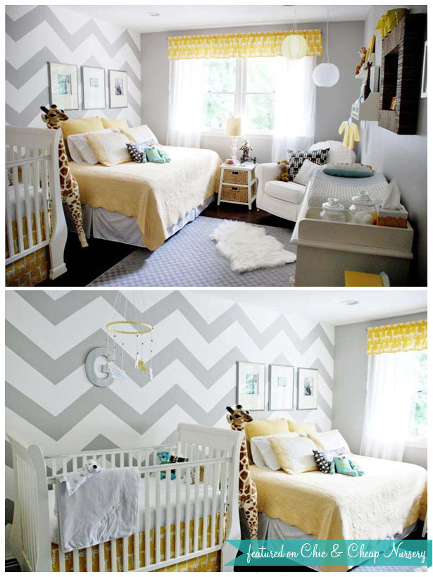 Gray And Yellow Daybed Bedding : Custom nursery art by kimberly missoni inspired zig zag