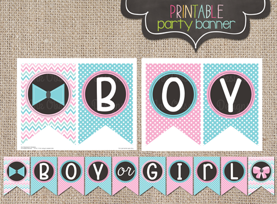 It's just a picture of Luscious Gender Reveal Printable