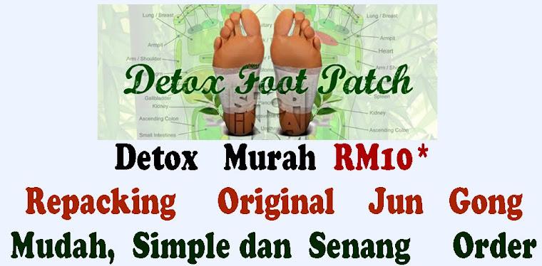 Repacking Detox foot patch 10pcs dengan harga  RM10