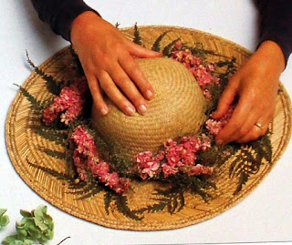 Como Decorar con Flores Secas, Sombrero de Verano