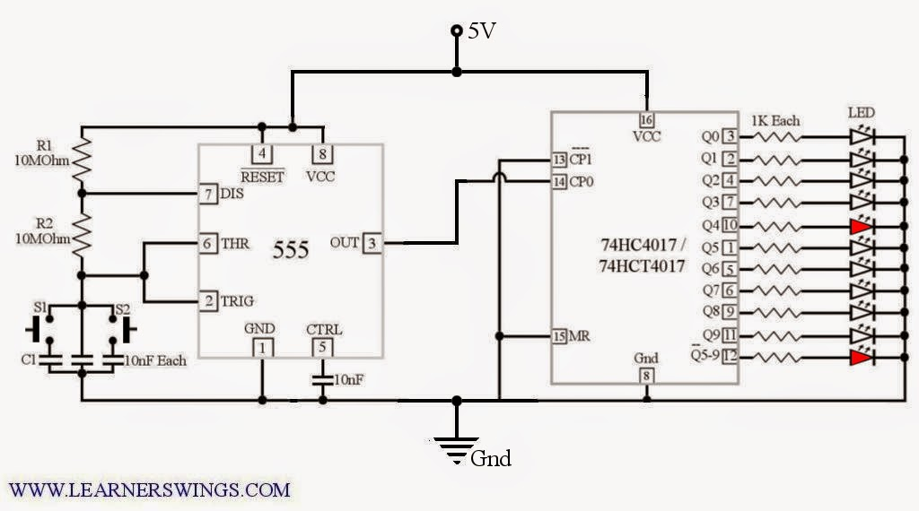 animated demonstration of johnson counter using 555 timer and 4017  u00ab funny electronics
