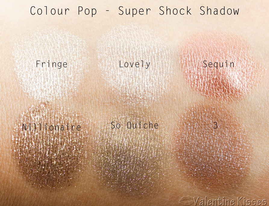 Valentine Kisses: Colour Pop Super Shock Shadow - 6 shades ...