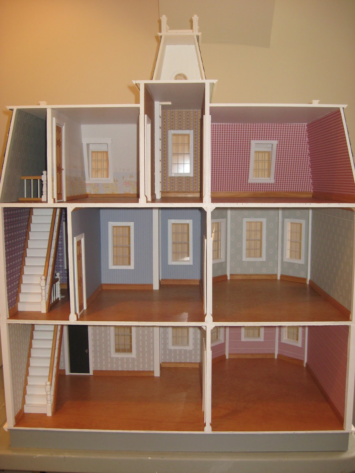 lighting for dollhouses. This Includes Electric Tapewire Lighting Run Throughout The House With 6 Ceiling Lights Installed And Several Outlets To Plug In Additional Lamps. For Dollhouses