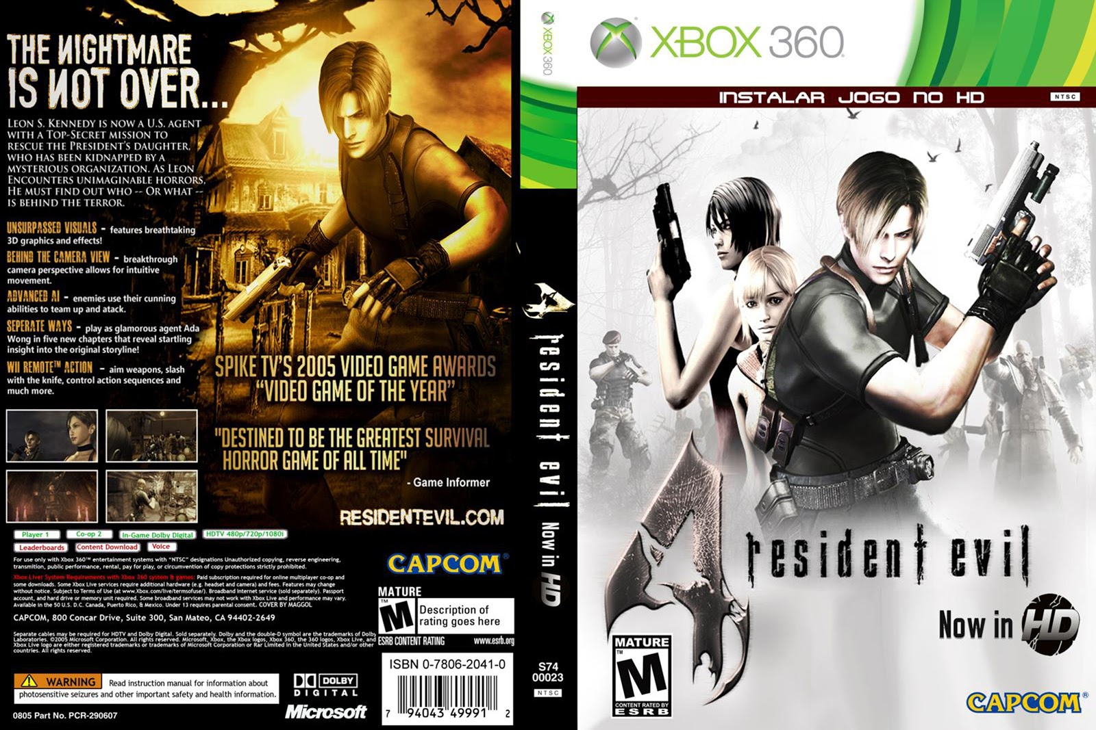 Capa Resident Evil 4 Xbox 360