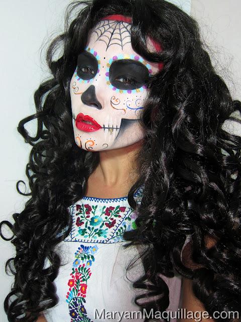Maryam Maquillage Dia De Los Muertos Sugar Skulls Calaveras Catrinas