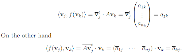 Linear Algebra: #20 Characterizing Orthogonal, Unitary, and Hermitian Matrices equation pic 6