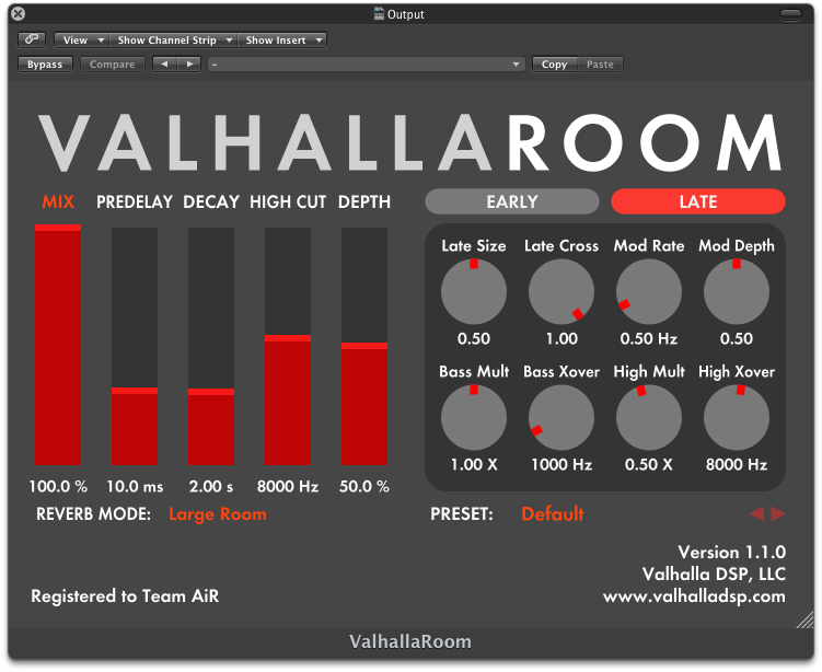 Valhalla Room Plugin Free Download