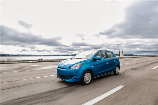 2014 Mitsubishi Mirage driving