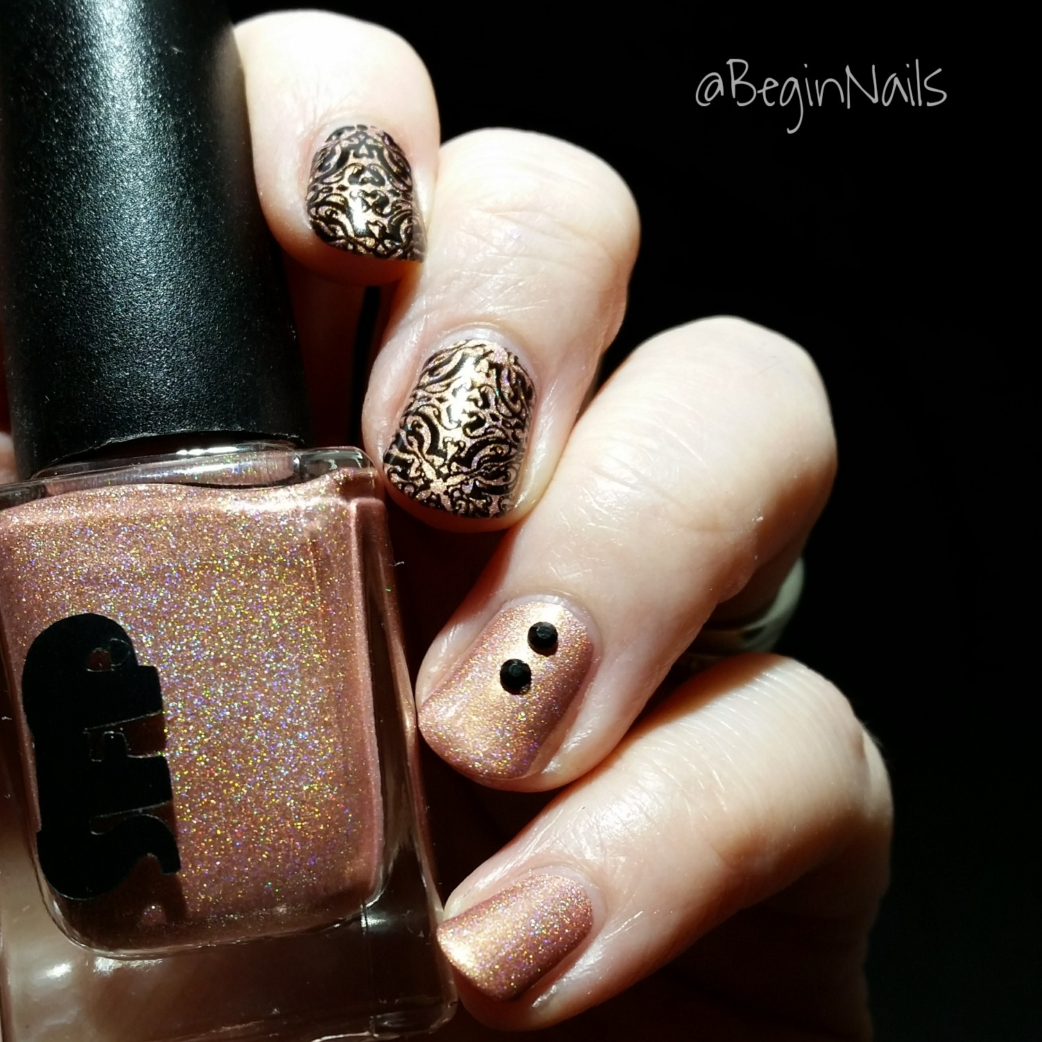 Let\'s Begin Nails: It Girl IG106 Stamping Plate Review Part 2