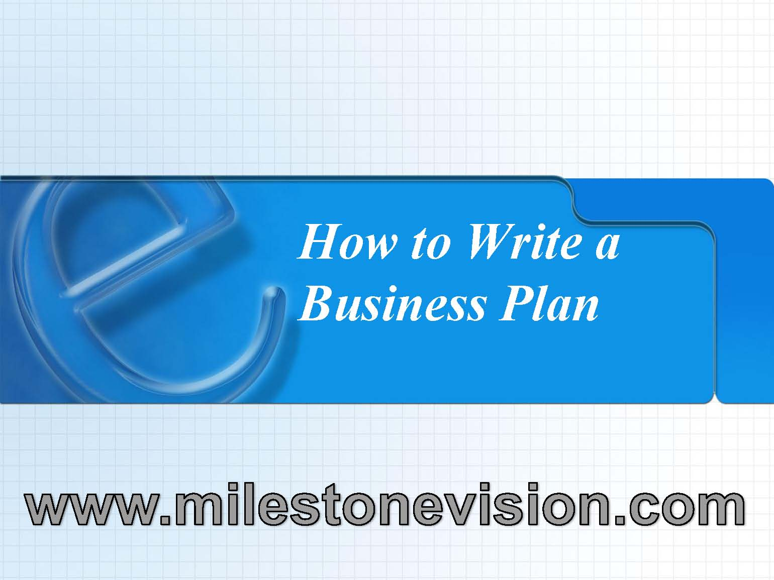 how to write a business plan for small business