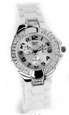 Reloj color blanco y plateado muy barato