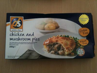 ds gluten free chicken mushroom pies