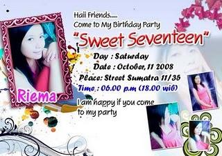 undangan ulang tahun setiap orang pasti ingin merayakan ulang tahun ...