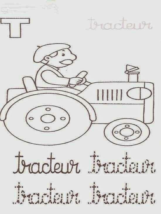 Coloriages magiques l 39 ab c daire tracteur coloriage - Coloriage magique tracteur ...