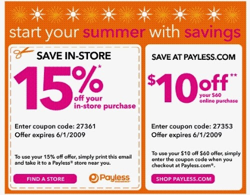 Payless coupons printable february 2018