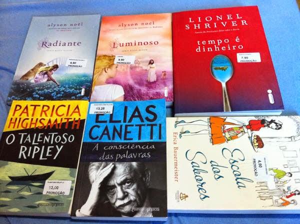 Livros comprados na 1ª Feira Leitura do Shopping Campo Grande