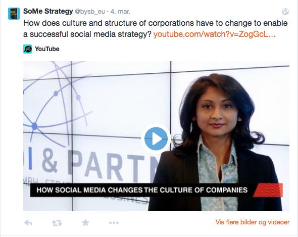 Organisasjon og kultur henger sammen med Sosiale medier-strategien