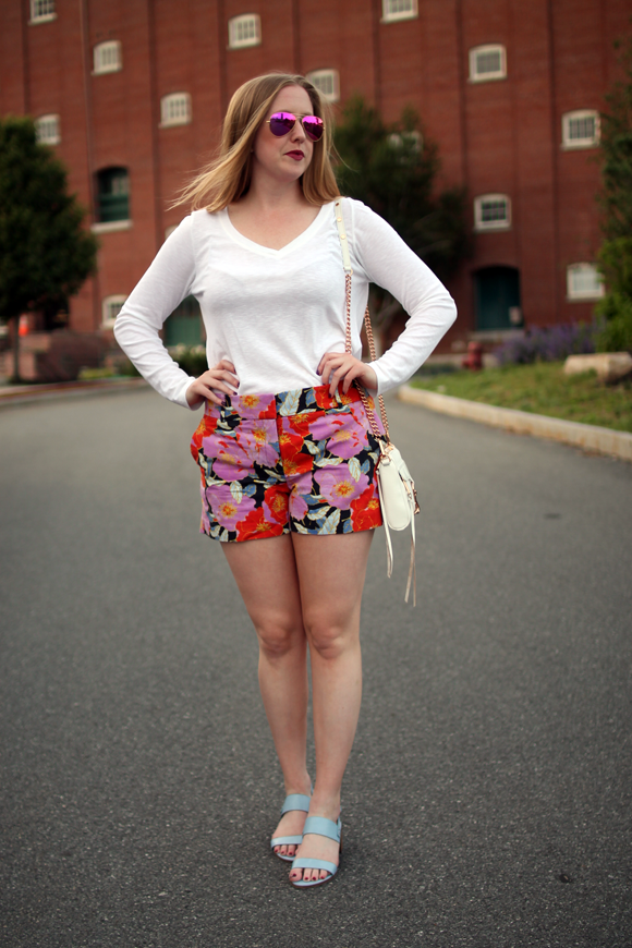 loft full bloom shorts