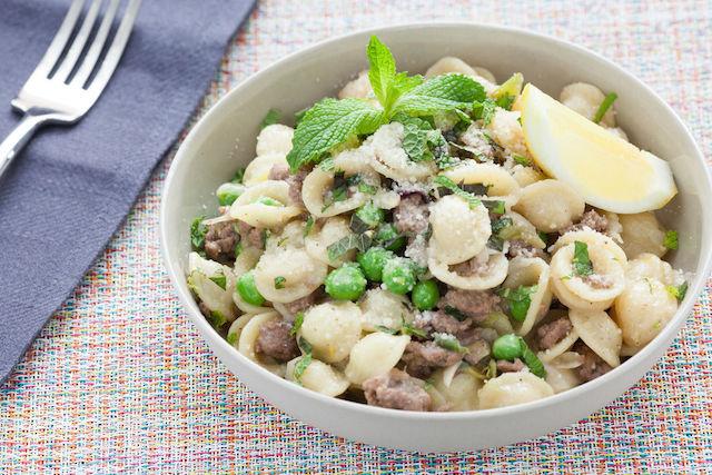 Blue Apron Lamb Orrechiette Pasta Dish