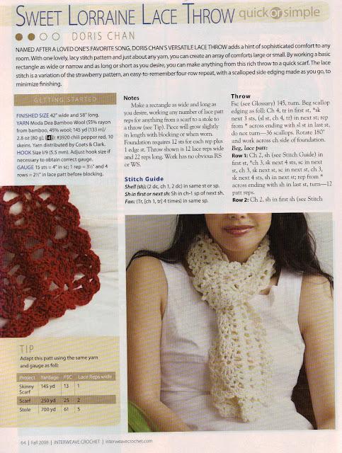 Excelente Crochet Bufanda Patrón Shell Imágenes - Ideas de Patrones ...