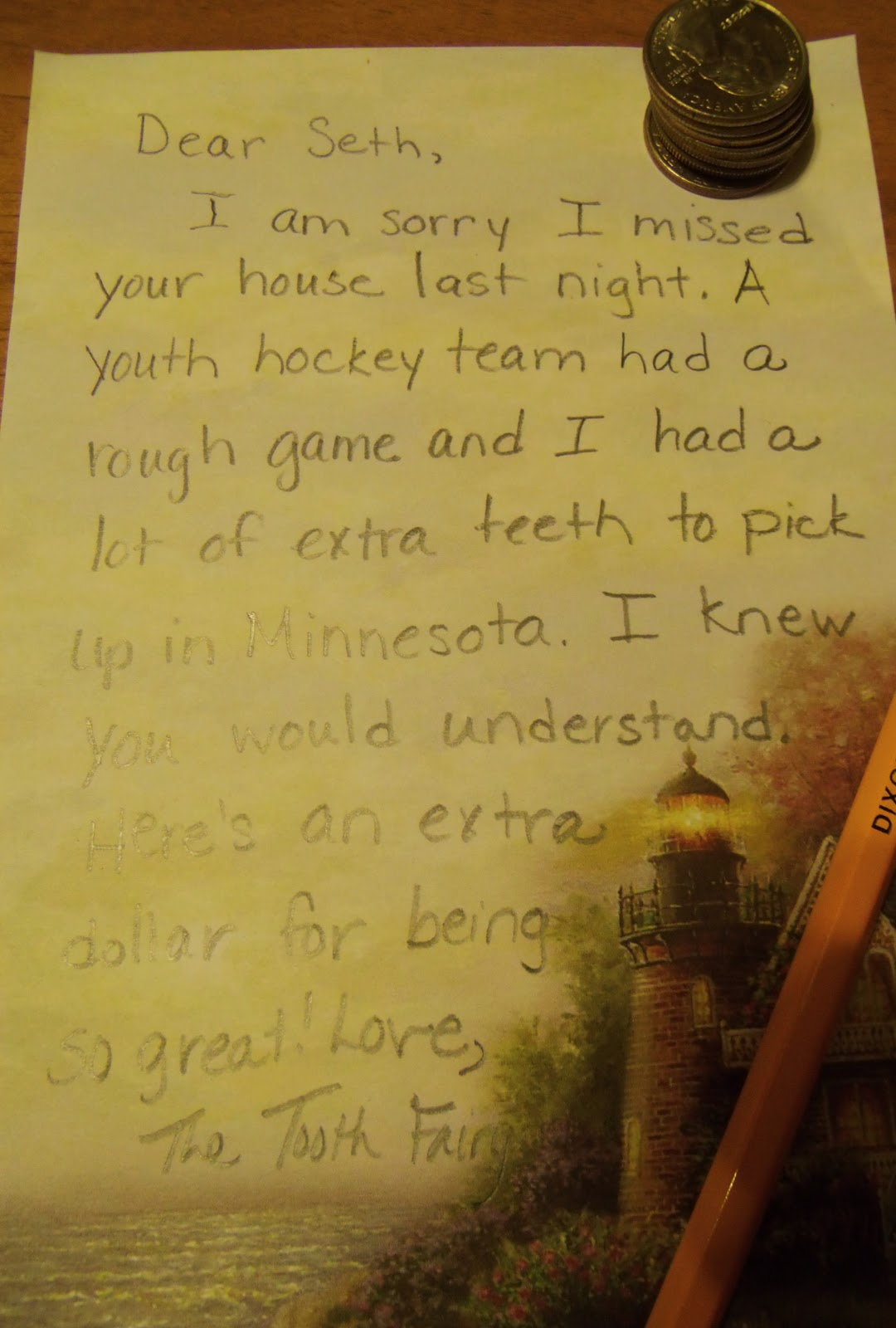 Plain Graces Letters From The Tooth Fairy Mission Fail