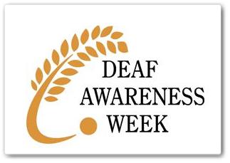 Deaf Awareness Week Logo November 2013