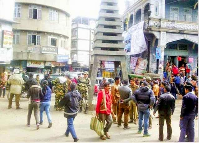 GNLF - GJM cadres clash in Kalimpong Damber Chowk