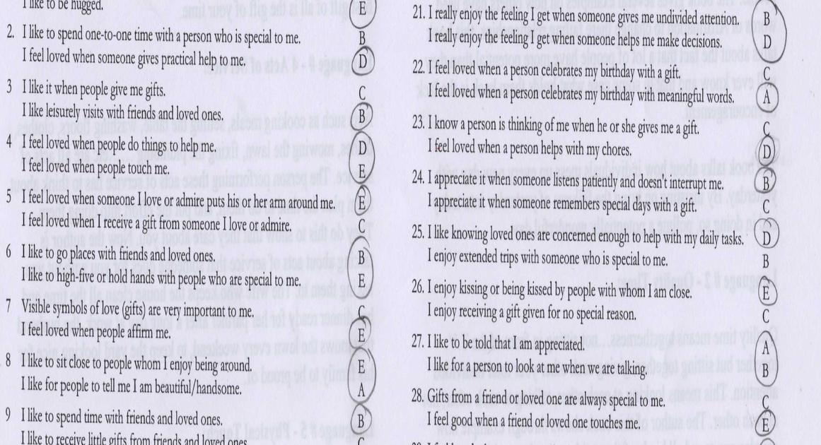5 love languages quiz 30 questions