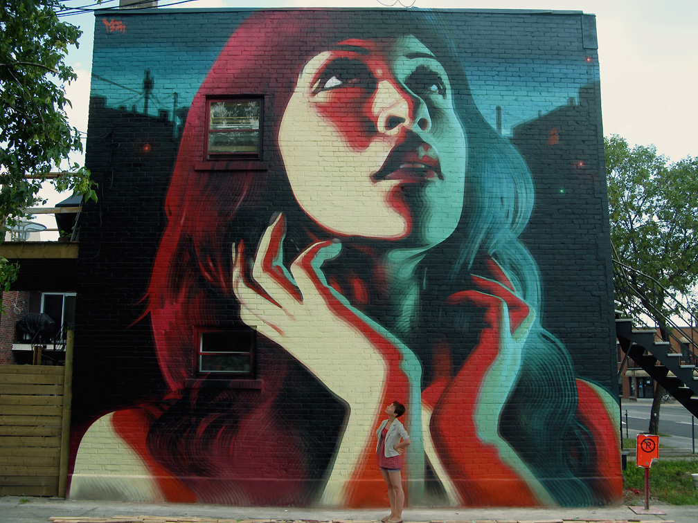 Mac art new mural in montr al spirit of summer l for Art mural montreal