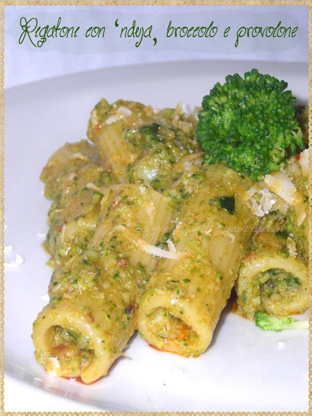 Pasta con 'nduja, broccolo e provolone
