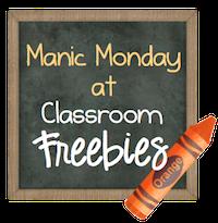 """<center> <a href=""""http://www.classroomfreebies.com"""" target=""""_blank""""><img alt=""""Classroom Freebies Manic Monday"""" src=""""http://www.theorganizedclassroomblog.com/images/stories/classroom-freebies/manicMondayOrangebutton.png"""" /></a></center>"""