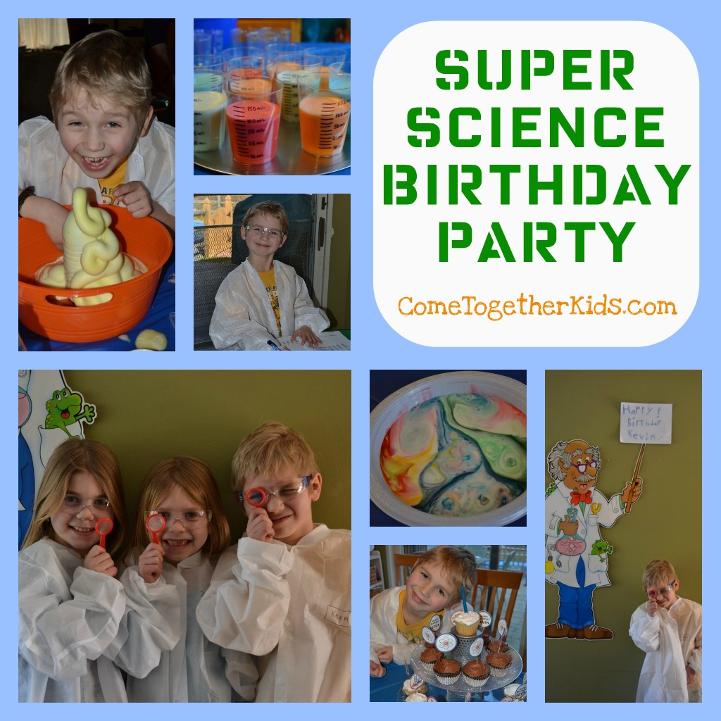 Come Together Kids Super Science Birthday Party - Childrens birthday venues edmonton