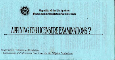 Professional Regulation Commission, licensure examination, board examination, PRC, exam guidelines