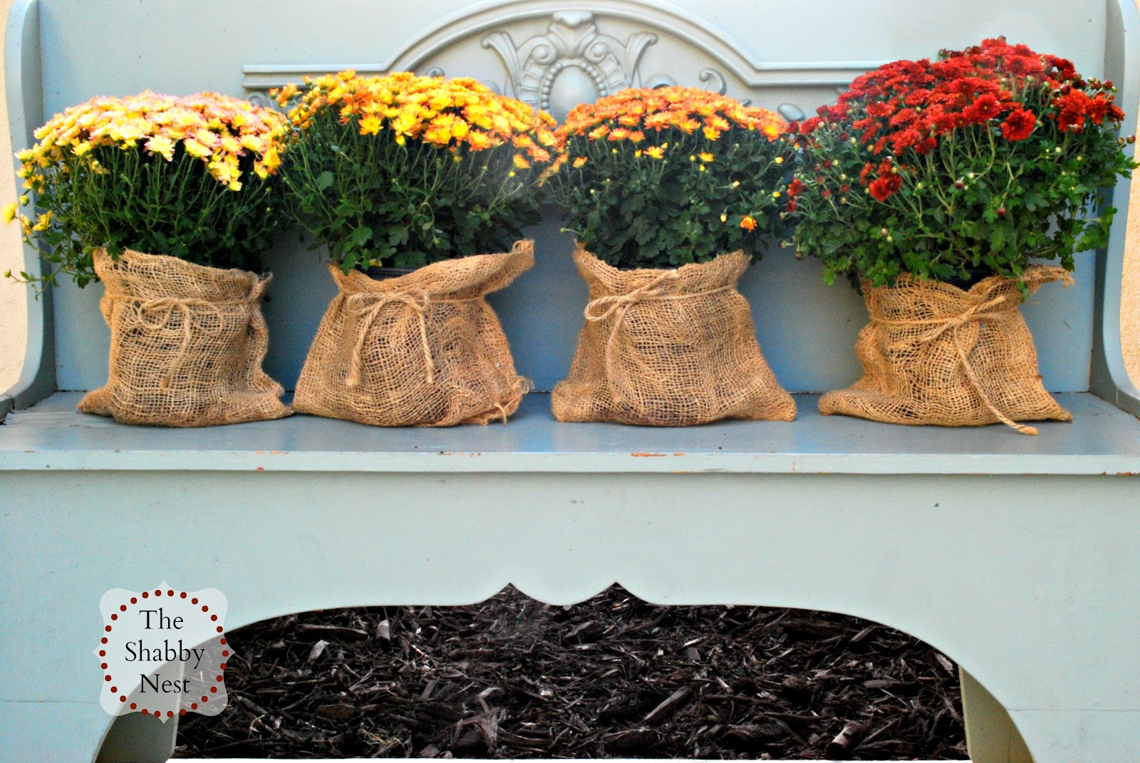 The Shabby Nest Outdoor Fall Decor The Evolution Of This