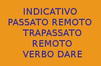 USO DELL'INDICATIVO PASSATO REMOTO E TRAPASSATO REMOTO CON IL VERBO DARE - 10 FRASI