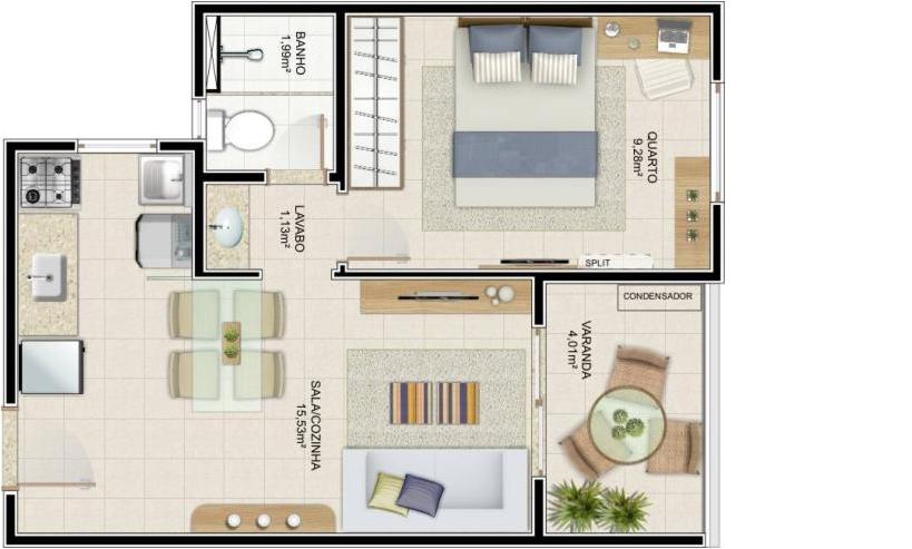 Consultor Imobili?rio: Liberty - Loft ou Quarto/Sala em ...