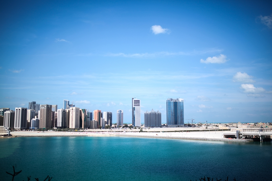 the skyline of abu dhabi